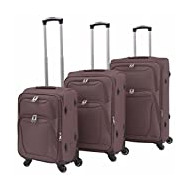 SHENGFENG, Set de bagages Marron marron