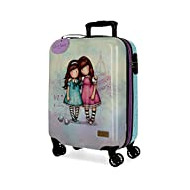 Santoro Gorjuss Friends Walk Together Valise Trolley Cabine Pourpre 37x55x20 cms Rigide ABS Serrure TSA 33L 2,6Kgs 4 roues doubles Bagage à main